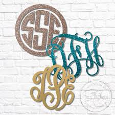 Glitter Monogram Decal Sew Southern Designs