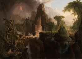 garden of eden painting by thomas cole
