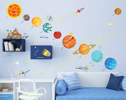 Solar System Decal Etsy