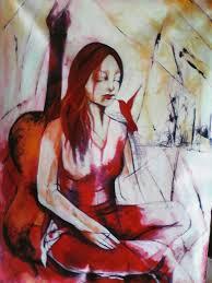"Sonia Uribe | Obra, painting conceptual postmodern art: ""Te espero"" |  VirtualGallery.com"