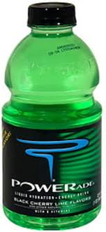 powerade black cherry lime liquid