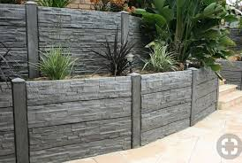 Concrete Sleeper Retaining Walls Oj Fencing