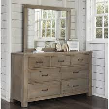 Ne Kids Highlands 7 Drawer Dresser With Mirror In Driftwood Walmart Com Walmart Com