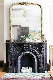 mirror fireplace mantle