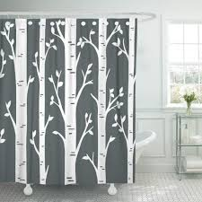 Birch Aspen Tree Forest Custom Wall Decals For Woodland Polyester Shower Curtain 60x72inch 150x180cm Buy At A Low Prices On Joom E Commerce Platform