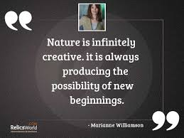 nature is infinitely creative it inspirational quote by