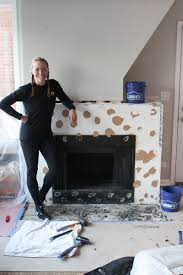 cement board to fireplace surround