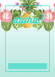 Pineapple Luau Perimeter Free Printable Birthday Invitation