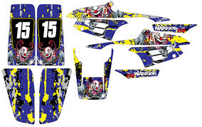 Custom Mx Vinyl Decal Graphics Sticker Kit Compatible With Yamaha Warrior 350 Yfm 350x 1987 2004 Devil Clown Sale Affordable Mx Graphics Quad Stickers Motorcycle Decals Store