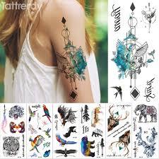 Nowa Tymczasowa Naklejka Tatuaz Kolor Fantazyjny Wolnosc Ptak