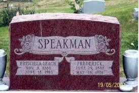 SPEAKMAN, PRISCILLA - Ross County, Ohio | PRISCILLA SPEAKMAN - Ohio  Gravestone Photos