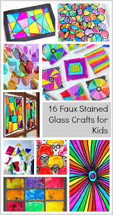 16 faux stained glass crafts for kids