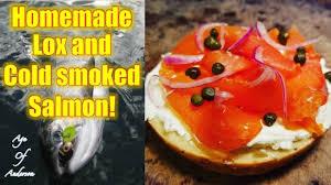 homemade lox and cold smoked salmon