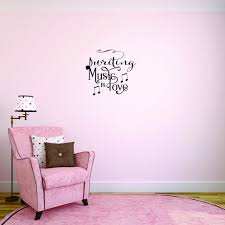 Custom Wall Decal Sticker Writing Music Is Love Bedroom Quote Kids Teen Boy Girl Quote Home Decor 12x18 Walmart Com Walmart Com