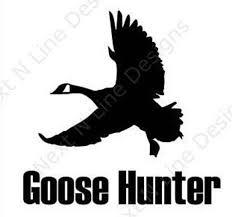 Hunting Goose Goose Hunting Wildlife Sportsman Window Etsy
