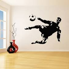 Soccer Player Football Ball Play Game Wall Stickers For Boys Bedroom Playroom Vinyl Waterproof Decals Living Room K180 Wish