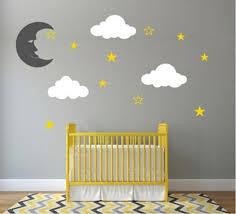Custom Personalised Moon Stars Vinyl Diy Wall Decal Sticker Nursery Bo