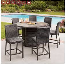 dining set with fire pit