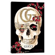 Shop Porch Den Gucci Skull Ii Wall Art Overstock 28171798