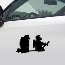 Cartoon Fireman Firefighter Pattern Night Reflective Pet Funny Car Sticker Decal Garnabdeahdera44