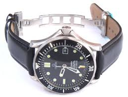 20mm black leather watch