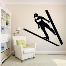 Skiing Quote Wall Decal Ski Vinyl Stickers Ski Decal Skier Art Etsy