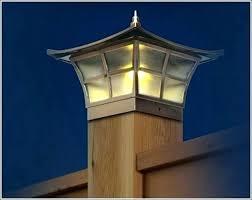 Solar Light Fence Post Caps Deck Lights 4 4 Cap Muconnect Co