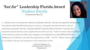 2020 'but for' Leadership Florida Award - Nadine Smith - Leadership Florida