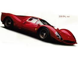 Ferrari 330 P4 Wall Decal