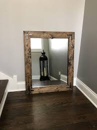 jacobean mirror wood framed mirror