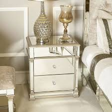 athens gold mirrored 3 drawer chest