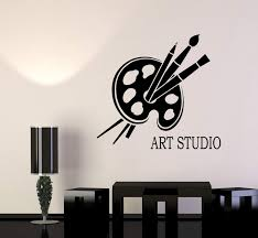 Vinyl Wall Decal Art Studio Logotype Signboard For Painter Stickers 2 Wallstickers4you