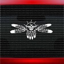 20 Colors Wolf Paw 1 Native American Car Decal Window Sticker Feather Bear Rainbowlands Lk