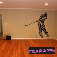 Golf Player Swinging Tee Golf Playering Club Cds007 Sports Vinyl Wall Decal Wall Mural Car Sticker