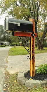 Great Mailbox Diy Diy Mailbox Rustic Mailboxes Wrought Iron Mailbox