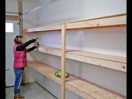 how to build garage shelving easy