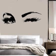 Beautiful Eyes Big Eye Lashes Wink Decor Wall Art Mural Vinyl Decal Sticker M462 Mural Wall Art Vinyl Wall Decals Vinyl Decals