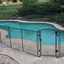 Amazon Com Sentry Safety Pool Fence Visiguard Is The Most See Thru Pool Fence On The Market 4 Tall 12 Long Removable Child Safety Fence Green Childrens Outdoor Safety Products Garden