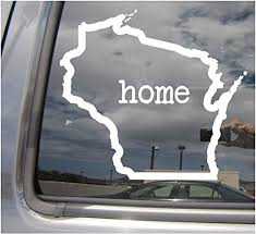 Amazon Com Right Now Decals Wisconsin State Home Outline Wi Madison Usa America Cars Trucks Moped Helmet Hard Hat Auto Automotive Craft Laptop Vinyl Decal Store Window Wall Sticker 07016 Home
