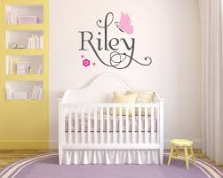 Personalized Name With Butterflies Riley Custom By Styleawall 48 99 Nursery Wall Decals Vinyl Wall Decals Nursery Baby Room Decals