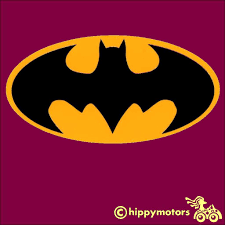 Batman Logo Decal Made From High Quality Durable Colourfast Vinyl