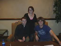John Heder & Aaron Ruell & Lori | this is a pic of my sister… | Flickr