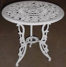 cast iron outdoor table and chairs