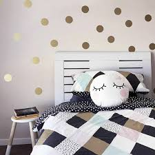 Gold Polka Dots Kids Room Baby Room Wall Stickers Children Home Decor Nursery For Sale Online Ebay