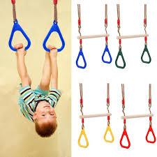 indoor outdoor wooden swing toy kids