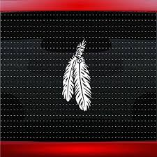 Amazon Com Noizy Graphics Feather 6 Indian Native American Car Sticker Truck Window Vinyl Decal Color White Automotive