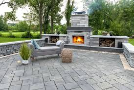 outdoor fireplaces powell stone gravel