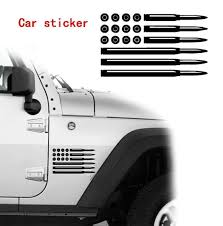 New Bullet American Flag Car Sticker Suv Truck Window Reflective Sticker Car Decoration Vinyl Sticker Bumper Sticker Wish