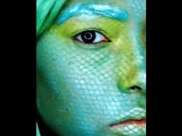 fish scale design halloween makeup