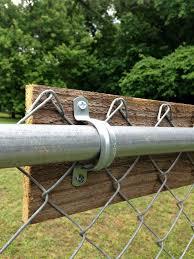 Upgrading A Chain Link Fence Diy Garden Fence Fence Design Diy Fence